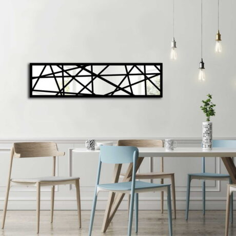 Oglinda de perete din sticlă cu ramă din lemn Vera