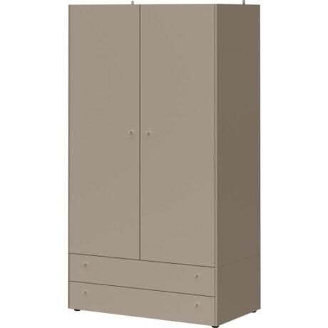 Dulap cu 2 sertare Germania Monteo, înălțime 196 cm, gri