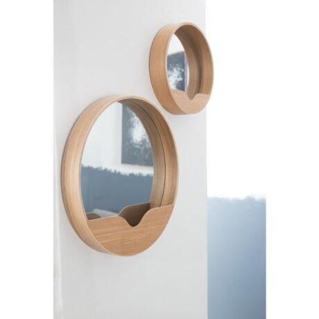 Oglindă cu spațiu de depozitare Zuiver Round Wall, 60 cm